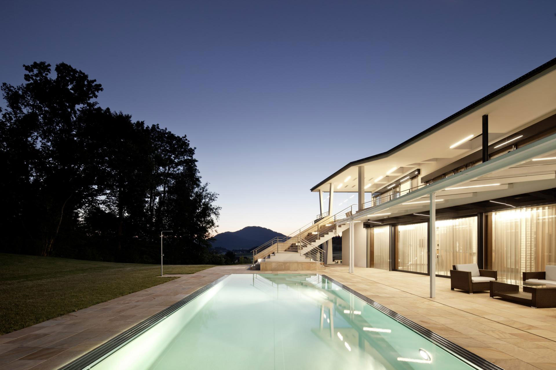 backyard-pool-lighting-ideas-modern-sleek-house-design-with-brown-ceramic-floor-tiles